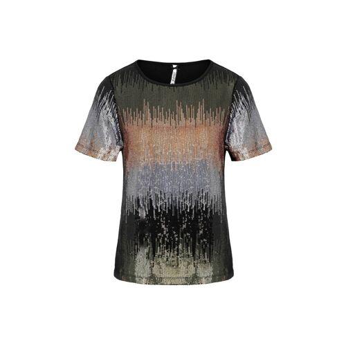MILLION-X T-Shirt »Pailetten«, black