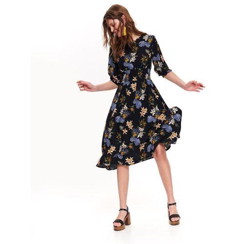 TOP SECRET Sommerkleid mit floralem Allover-Print, BLACK