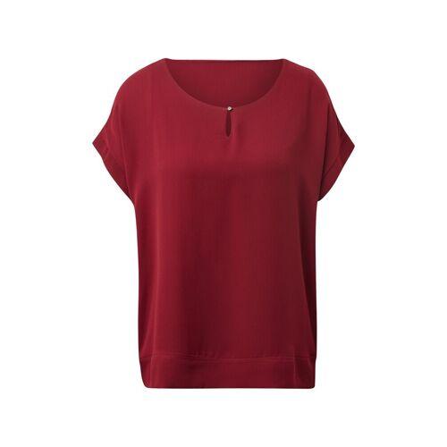 TOM TAILOR T-Shirt »Chiffon T-Shirt«, red