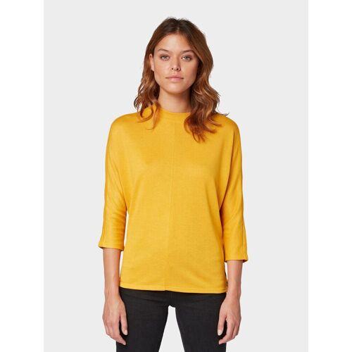 TOM TAILOR 3/4-Arm-Shirt »3/4 Arm Shirt mit Fledermausärmeln«, gelb