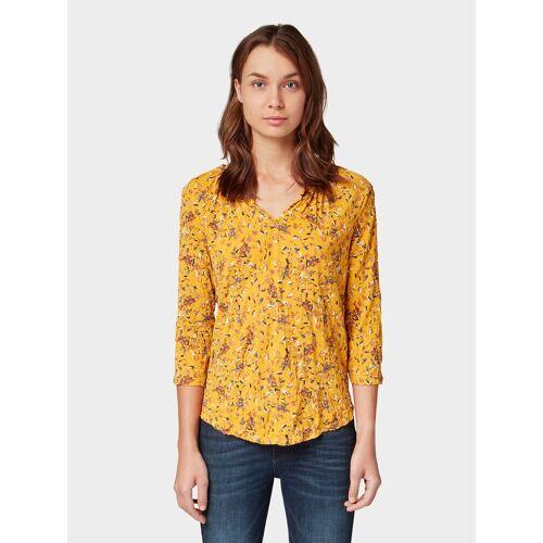 TOM TAILOR 3/4-Arm-Shirt »3/4 Arm Shirt mit Rüschenborte«, gelb