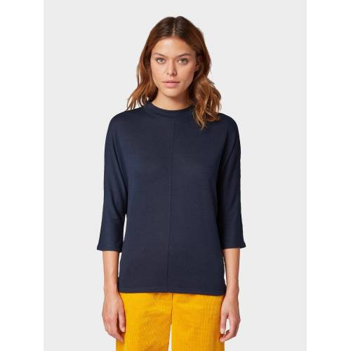 TOM TAILOR 3/4-Arm-Shirt »3/4 Arm Shirt mit Fledermausärmeln«, blau