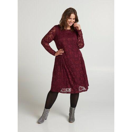 Zizzi Spitzenkleid Damen Große Größen Spitzenkleid Langarm Spitze Elegant Kleid