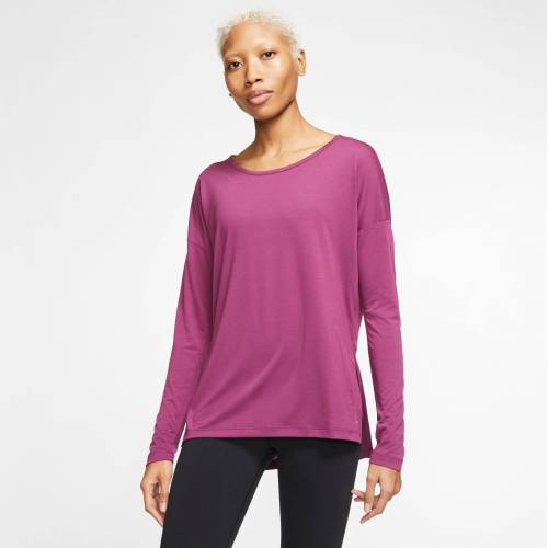 Nike Yogashirt »Women's Long-Sleeve Yoga Training Top«, pflaume