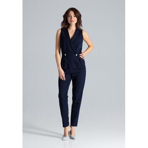 LENITIF Jumpsuit in elegantem Design, Navy