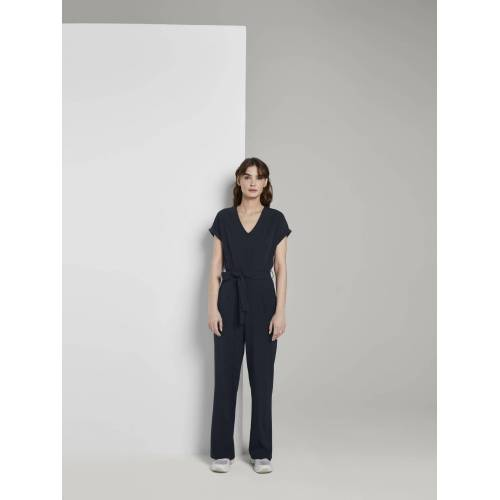 TOM TAILOR Jumpsuit »Jumpsuit mit Bindegürtel«