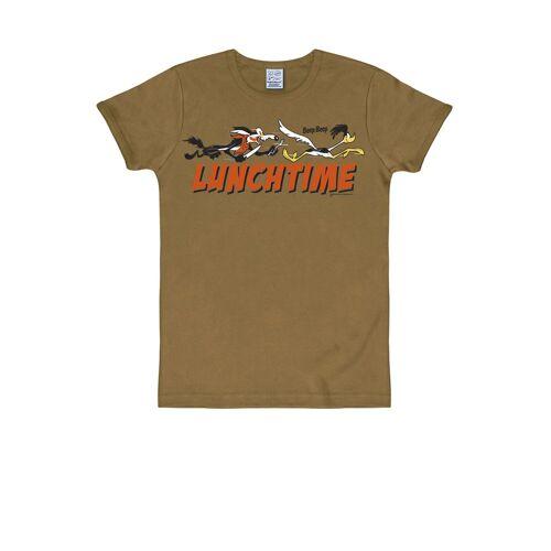 LOGOSHIRT T-Shirt mit witzigem Print »Looney Tunes«, sand braun