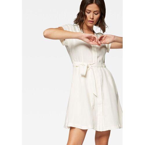 Mavi Jeanskleid »SHORT SLEEVE DRESS« Jeanskleid, weiß
