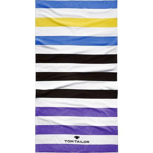 TOM TAILOR Strandtuch »Strandtuch, 85x160 cm«, violett