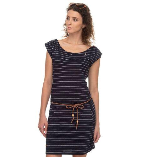 Ragwear Shirtkleid »CHEGO« (2-tlg., mit Bindegürtel) im maritimen Streifen-Design, navy 2028