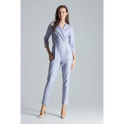 FIGL Jumpsuit im eleganten Wickeldesign »M672«, Grey