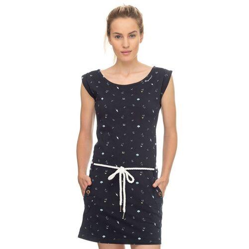 Ragwear Shirtkleid »TAG A« (2-tlg., mit Bindegürtel) mit maritimen Allover-Druck, marine