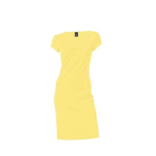 heine CASUAL Shirtkleid mit Raffung am Ausschnitt, gelb