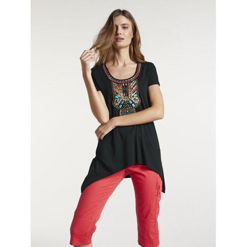 heine CASUAL Shirt im Azteken-Stil, schwarz