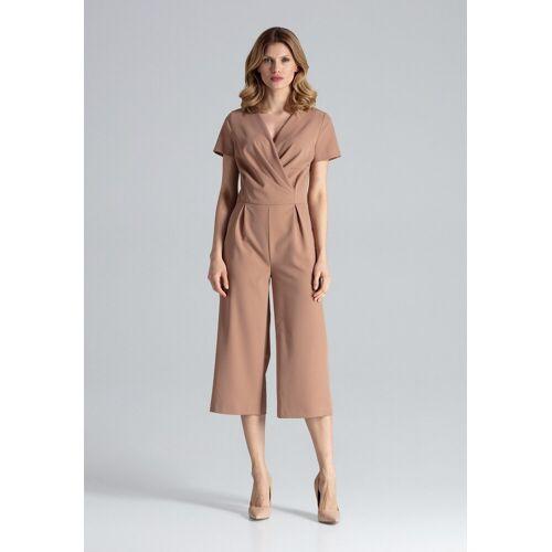 FIGL Jumpsuit in elegantem Design, Brown