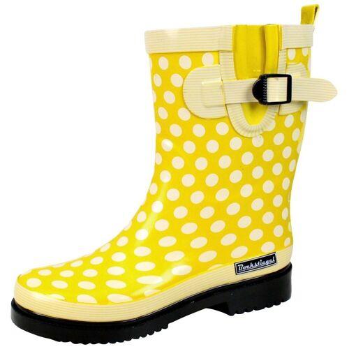 BMD Gummistiefel »Bockstiegel Gummistiefel«, modischer Gummistiefel für regnerische Tage, gelb