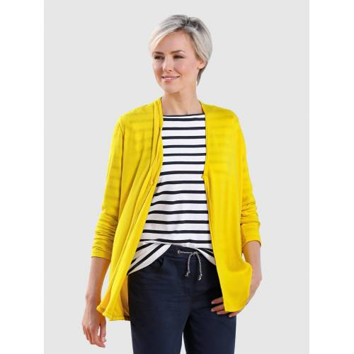 Dress In Shirtjacke in offener Form, Gelb