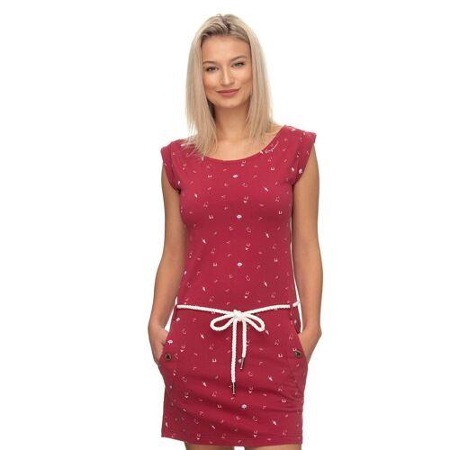 Ragwear Shirtkleid »TAG A« (2-tlg., mit Bindegürtel) mit maritimen Allover-Druck, red