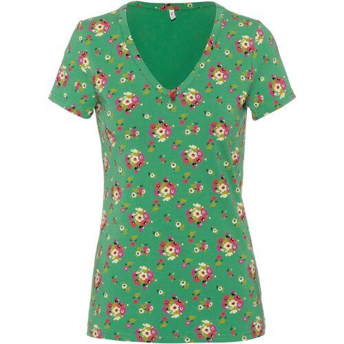 Blutsgeschwister V-Shirt »Sunshine camp«, grün-geblümt