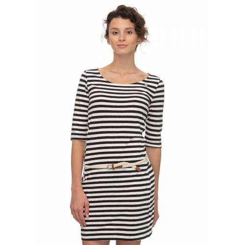 Ragwear Shirtkleid »TAMY B« (2-tlg., mit Bindegürtel) im maritimen Streifen-Design