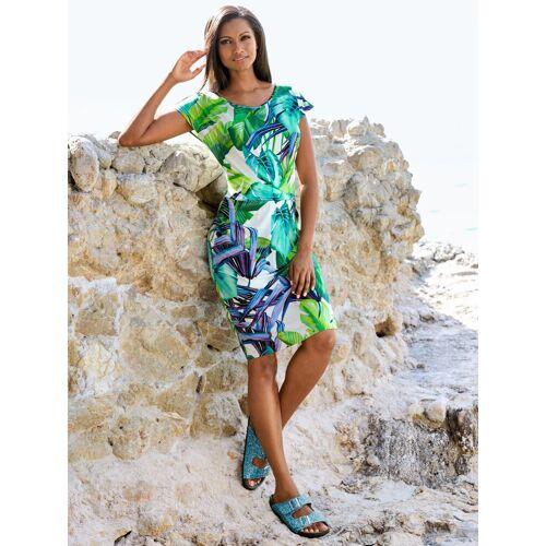 Alba Moda Strandkleid mit Raffung, Weiss-Bunt