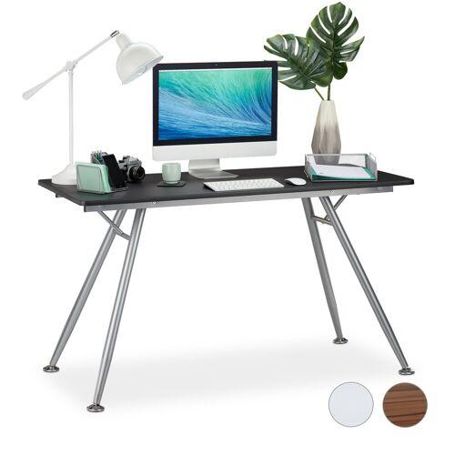 relaxdays Schreibtisch »Moderner Schreibtisch«, Schwarz