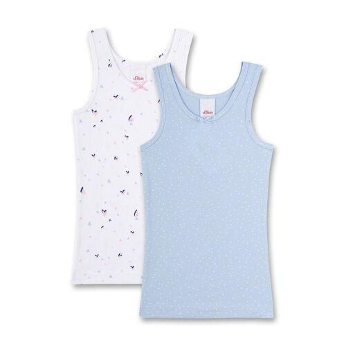 s.Oliver Unterhemd »Mädchen Unterhemd 2er Pack - Shirt ohne Arme,«, Blau/Weiß
