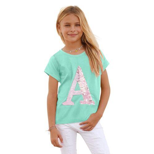 Arizona T-Shirt mit Wendepailletten, mint
