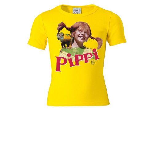 LOGOSHIRT T-Shirt mit Pippi Langstrumpf-Frontdruck »Pippi Langstrumpf - Herr Nilsson«, gelb