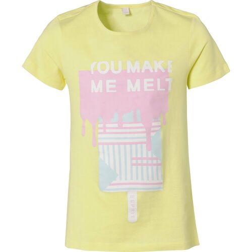 Esprit t-shirt ss make me melt - T-Shirts, gelb