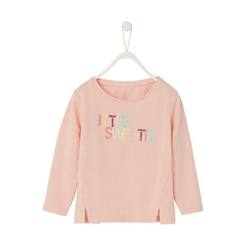 vertbaudet Langarmshirt für Mädchen, rosa