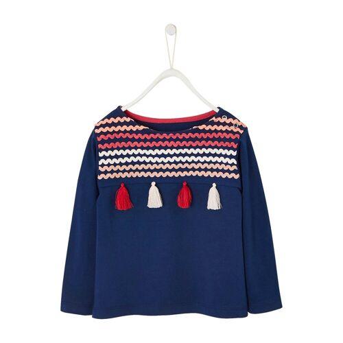 vertbaudet Langarmshirt für Mädchen, blau