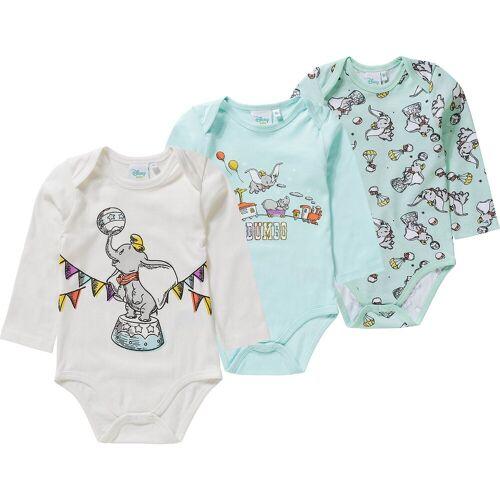 Disney Dumbo Baby Langarmbody 3er-Pack, blau/grau