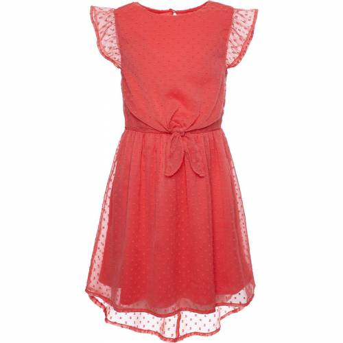REVIEW for Kids Kinder Chiffonkleid mit Knotendetail, koralle