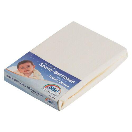 Alvi® Laufgitter »Spannbettlaken, Jersey, weiß, 70 x 100 cm«