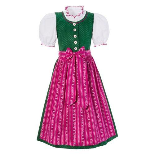 Turi Landhaus Turi Landhaus Turi Landhaus Dirndl Kinder mit rundem Ausschnitt (3tlg.), grün/pink