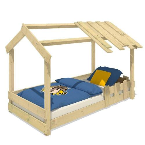 Wickey Kinderbett »Hausbett CrAzY Beach - Holzbett 90 x 200 cm«