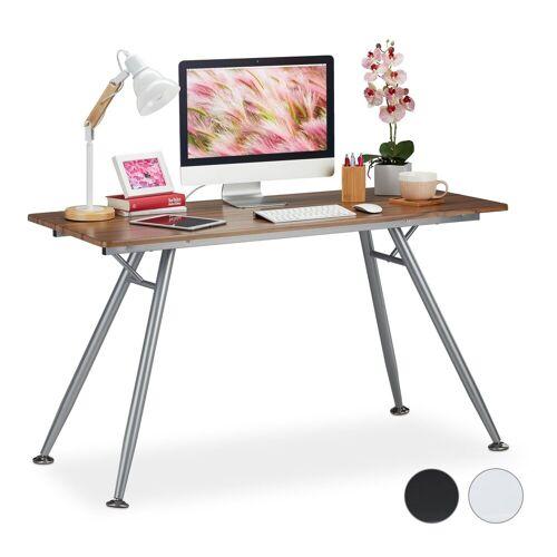 relaxdays Schreibtisch »Moderner Schreibtisch«, Holzoptik