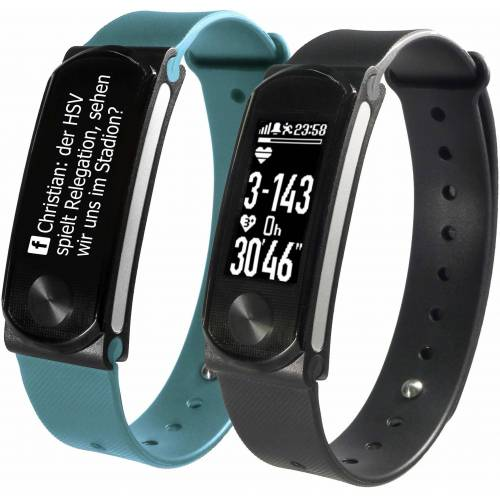 SportPlus Fitness-Tracker »Q-Band HR+ SP-AT-BLE-90« (Set), mit Wechselarmband