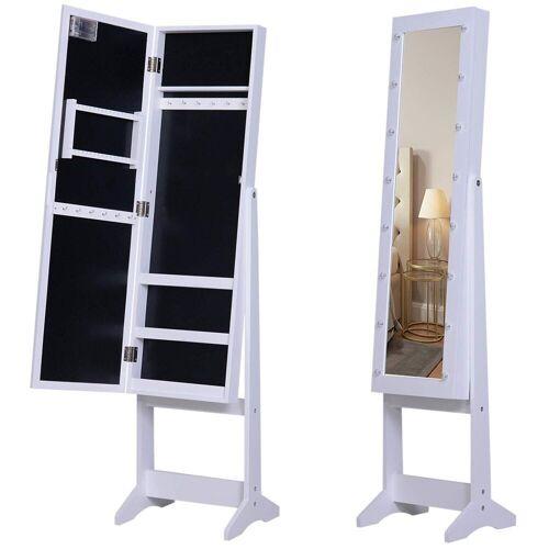 HOMCOM Schmuckschrank »LED Schmuckschrank mit Spiegel«
