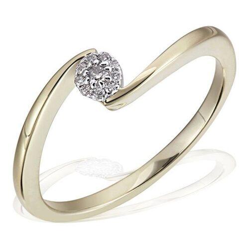 goldmaid Damenring Glamour Verlobung 585 Gelbgold 10 Brillanten 0,08 ct., goldfarben