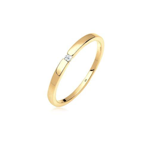 Diamore Verlobungsring, Klassiker, Diamant, (0.02, ct) »Verlobungsring Klassiker Diamant (0.02 ct) Silber«, Gold