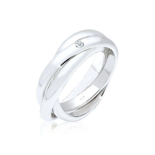 Elli Diamantring »Verlobungsring Diamant 0.03 ct. 925 Silber«