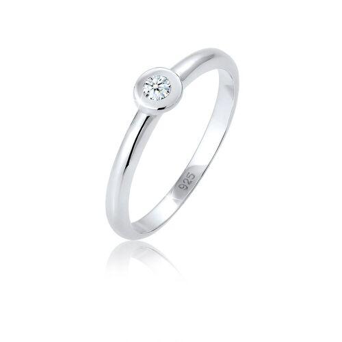 Diamore Diamantring »Solitär Verlobung Diamant (0.06 ct) 925 Silber«