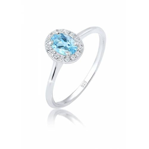 Elli Diamantring »Verlobungsring Topas Diamant (0.16 ct) 925 Silber«