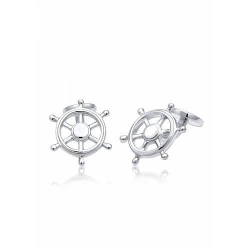 Kuzzoi Manschettenknöpfe »Steuerrad Maritim Meer 925 Sterling Silber«