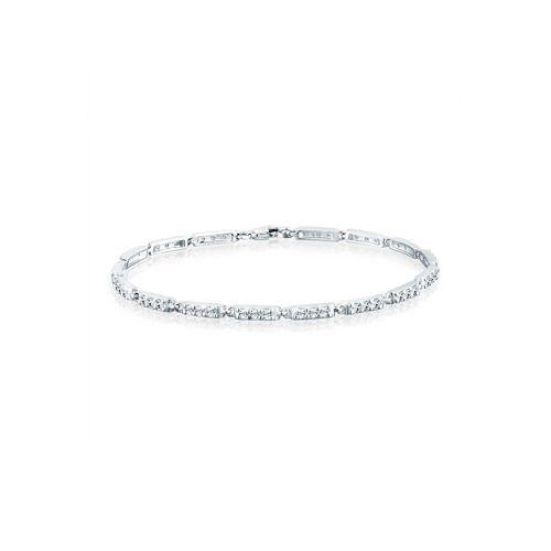 Elli Armband »Swarovski Kristalle Tennisarmband 925 Silber«