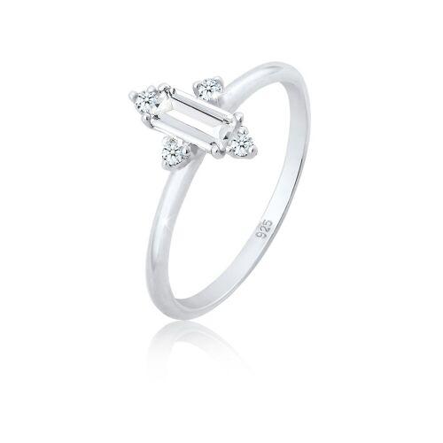 Elli Fingerring »Verlobung Edel Topas Diamant (0.08 ct) 925 Silber«