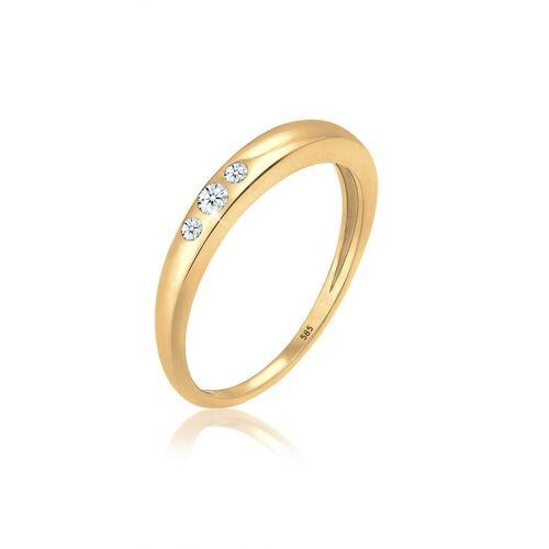 Diamore Diamantring »Verlobung Trio Diamant (0.07 ct) 585 Gelbgold«