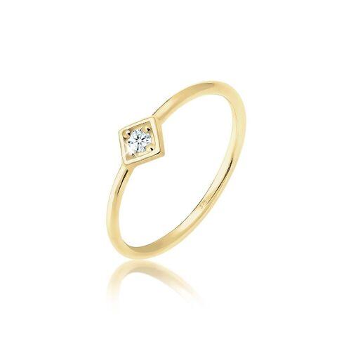 Elli Diamantring »Verlobungsring Geo Diamant (0.03 ct) 375 Gelbgold«